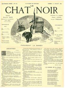 N° du journal du Chat Noir et du cabaret éponyme dirigé par Rodolpge Salis