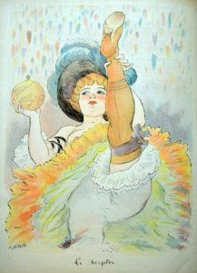 Tableau de WIllette d'une danseuse montrat sa culotte